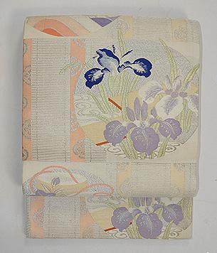 御簾に花丸紋袋帯