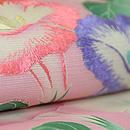 ピンクの朝顔の夏帯 質感・風合
