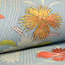 鵜飼の図江戸裂刺繍帯 質感・風合