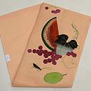 西瓜に瓜とキリギリス刺繍の名古屋帯 帯裏