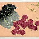 西瓜に瓜とキリギリス刺繍の名古屋帯 前中心