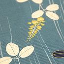 木目調に萩の夏帯 質感・風合