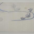 楓と流金魚刺繍名古屋帯 前中心