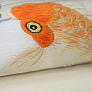 楓と流金魚刺繍名古屋帯 質感・風合