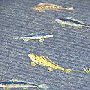 水草と魚刺繍名古屋帯 質感・風合