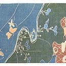 江戸期 糸目友禅の帯 前中心