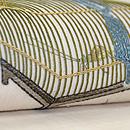 虫籠刺繍麻名古屋帯 質感・風合