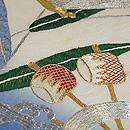 蜻蛉と水車刺繍袋帯 質感・風合