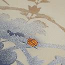 秋草にトンボとミツバチの名古屋帯 質感・風合
