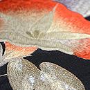 黒地アサガオの刺繍名古屋帯 質感・風合