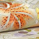 花筏の刺繍袋帯 質感・風合