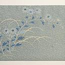 唐草に萩と女郎花の夏帯 前中心