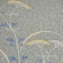 唐草に萩と女郎花の夏帯 質感・風合