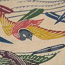 葦に水鳥紅型名古屋帯 質感・風合