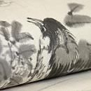 小枝に小鳥墨絵の夏帯 質感・風合