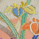 流水に花々模様雲取絞り絽袋帯 質感・風合
