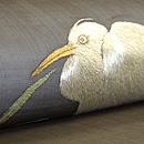水辺の葦に鷺刺繍紗名古屋帯 質感・風合