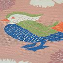 撫子に鳥文夏袋帯 質感・風合
