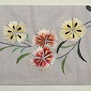 撫子刺繍絽名古屋帯 前中心