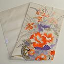 夏の百花花車刺繍紗名古屋帯 帯裏