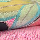 ヤツデ刺繍絞り絽名古屋帯 質感・風合