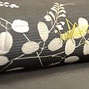 萩と虫籠名古屋帯 質感・風合