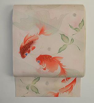 仲良し金魚の名古屋帯