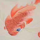仲良し金魚の名古屋帯 質感・風合