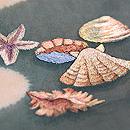 海藻に貝尽し紗の名古屋帯 質感・風合