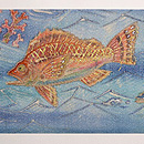 魚たちの海中散歩名古屋帯 前中心