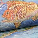 魚たちの海中散歩名古屋帯 質感・風合