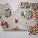 リボン刺繍の夏袋帯 帯裏