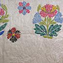 リボン刺繍の夏袋帯 前中心