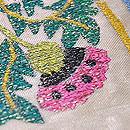 リボン刺繍の夏袋帯 質感・風合