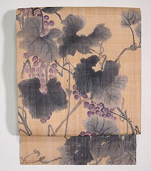 葡萄の図芭蕉布名古屋帯