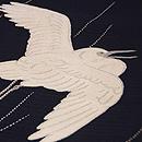 鷺に雨絽綴開き名古屋帯 質感・風合
