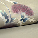 アザミ模様絽の染帯 質感・風合