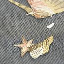 黒地に貝刺繍帯 質感・風合