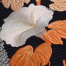 垣根にアサガオの刺繍帯 質感・風合