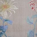 大輪菊の刺繍名古屋帯 前中心