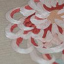 大輪菊の刺繍名古屋帯 質感・風合