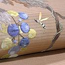 葡萄にアシナガバチ刺繍絽名古屋帯 質感・風合