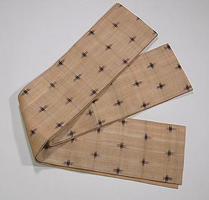 芭蕉布絣柄の半幅帯