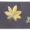 紅葉散らし刺繍の名古屋帯 前中心