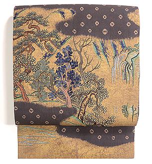 絞りに深山の刺繍名古屋帯