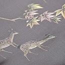 紅葉に鹿の刺繍名古屋帯 質感・風合