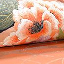 露芝に百花刺繍開き名古屋帯 質感・風合