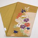 菊に南天綴刺繍名古屋帯 帯裏