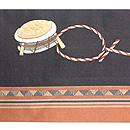 靭猿(うつぼざる)刺繍名古屋帯 前中心