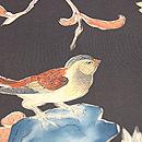 石榴と柿に小鳥の図名古屋帯 質感・風合